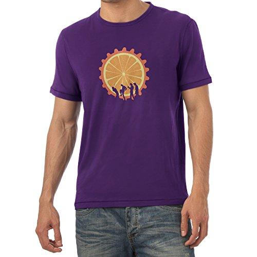 Shirt Orange Kostüm Uhrwerk - NERDO - The Orange - Herren T-Shirt, Größe M, violett