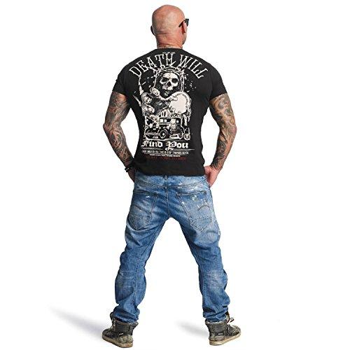 Yakuza Original Herren Death Will Find You T-Shirt Schwarz
