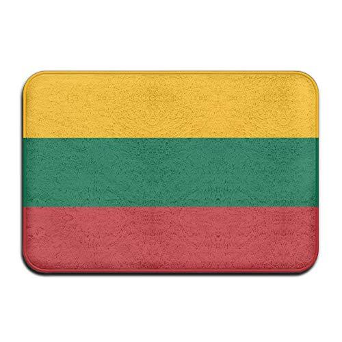 Schwere Thermo-unterwäsche (Aeykis Litauische Flagge Thermo-Transfer-Willkommensmatte, Rutschfeste Türmatte, Größe 40 x 60 cm)