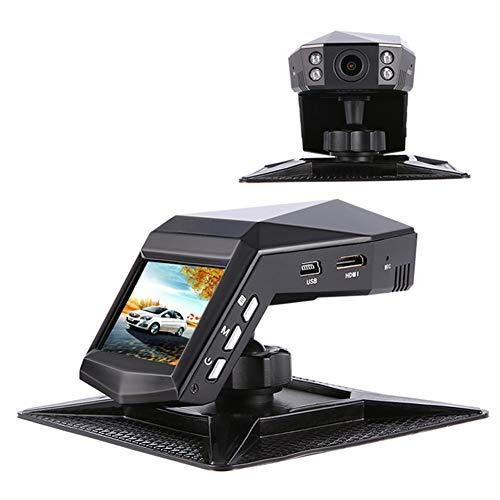 Dual-Objektiv 170 Grad Weitwinkel 2.0 HD Display Mit 4 Infrarot-Lichter WDR Wide Dynamic Parking Monitor Bewegungserkennung G Sensor, Zyklische Aufzeichnung, Parfüm Mini Recorder ()