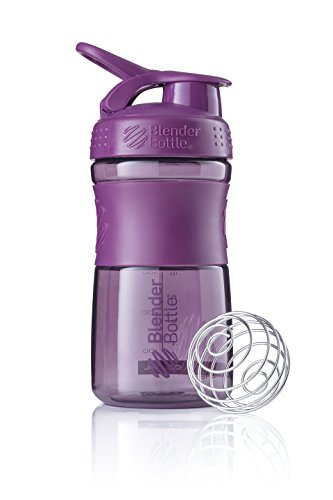 BlenderBottle Sportmixer Botella de agua | Botella mezcladora de batidos de proteínas | con batidor Blenderball | libre de BPA | Tritan| 590ml - plum