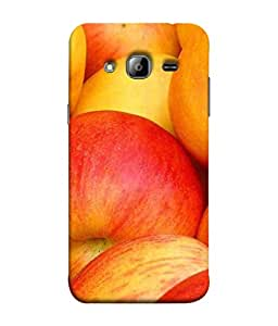 99Sublimation Designer Back Case Cover For Samsung Galaxy On7 G600Fy :: Samsung Galaxy Wide G600S :: Samsung Galaxy On 7 (2015) Red Apple Design