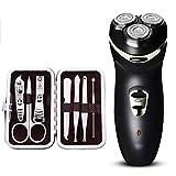 HM-Shaver Rasuradora eléctrica máquina de Afeitar Recargable Hombres de Tres Cabezas Inteligente Barba de Barba