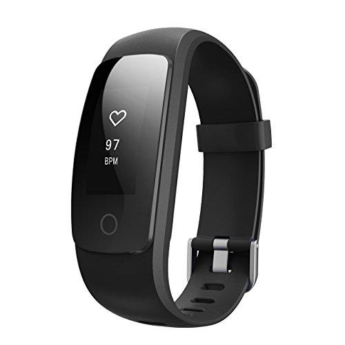 Rhythme Dynamique de Cœur Bracelet Smart Bracelet Intelligent Montre Connectée Fitness Bracelet Health Tracker Activity Poignet Podomètre avec pour Android et iOS Smart Phones