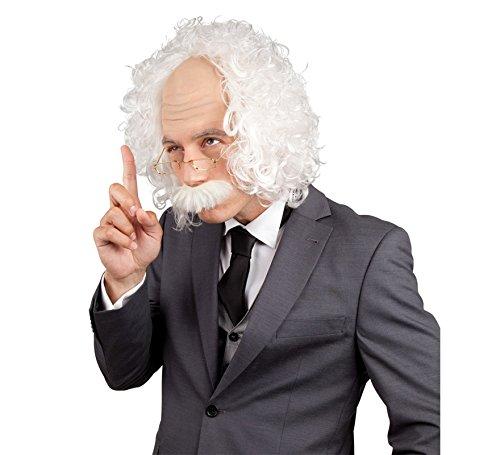 Kostüm Perücke Verrückter Wissenschaftler - Boland 86358 - Perücke Professor mit Schnurrbart und Brille