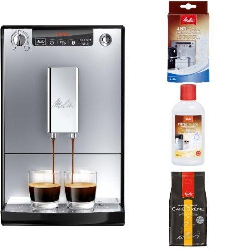 Melitta Starter Pack: E 950-103 Kaffeevollautomat Caffeo Solo mit Vorbrühfunktion, silber/schwarz +...
