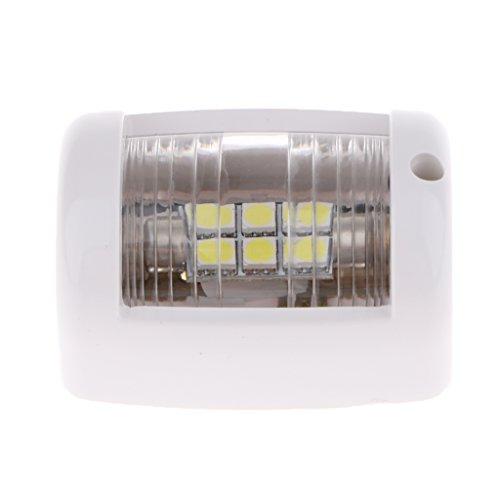 Sharplace Feux de Navigation 12V Yacht Boat Signal Lumière 6000K LED Blanc