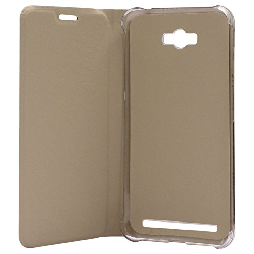 Dashmesh Shopping Premium Durable Leather Flip Cover Case For Asus Zenfone Max ZC550KL – Gold