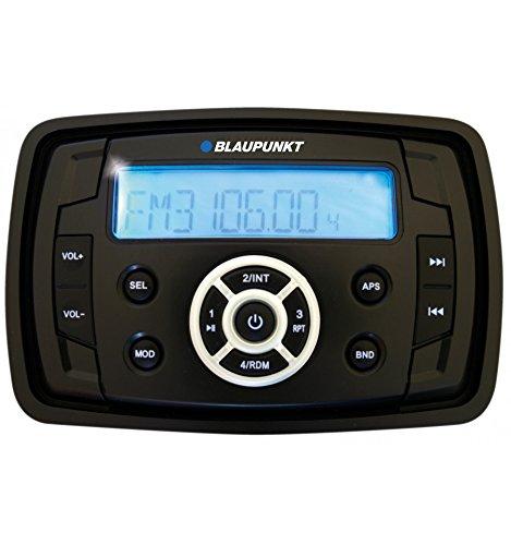Blaupunkt Capri 220 Radio/USB MP3/FM-AM Tuner/Rear-Aux/RMS 4x25 W/12 V/Wasserschutz Feuchtigkeitsstandard Stabilitätsstandard gemäß IP 66/Salz, ASTM (B 117/UV, D 4329) für Maritimen Einsatz Boote (Am Fm-radio, Marine)
