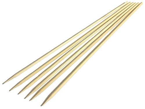 sellaviva Schaschlik-Spieße Bambus-Holz 20cm 80 Stück | Grillspieße Holz