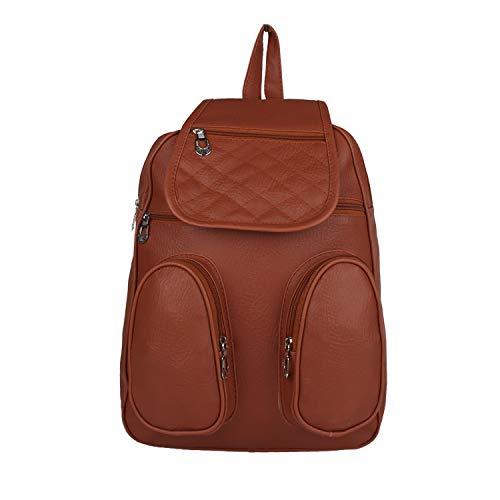 Zaxcer Collection Shoulder Backpack for Women & Girls Bag (Brown) (BPBN-01)