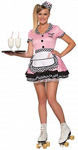 50er Jahre Kellnerin Kostüm Trixie Sue Rosa Fifties Rock 'n' Roll Damen, Größe: S