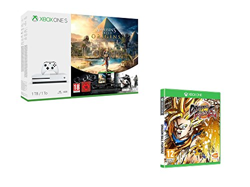 Xbox One S 1 To Assassin's Creed Origins & Rainbow Six : Siege + DragonBall Fighter Z