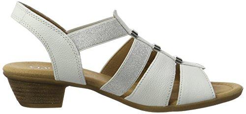 Gabor Shoes 62.472, Sandali Comfort Donna Bianco