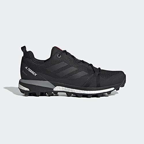 adidas Womens Terrex Skychaser LT GTX Walking Shoe, Carbon/Core Black/Active Pink, 39 1/3 EU