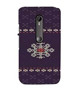 PrintVisa Ethnic Modern Art Design 3D Hard Polycarbonate Designer Back Case Cover for Motorola Moto G3
