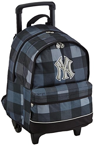 major-league-baseball-sac-a-dos-enfants-sac-a-dos-avec-2-compartiments-trolley-45-cm-gris