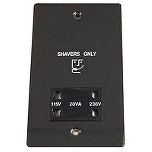 Unbekannt Rasiersteckdose schwarz nickel Elektrische Schalter & Steckdosen -