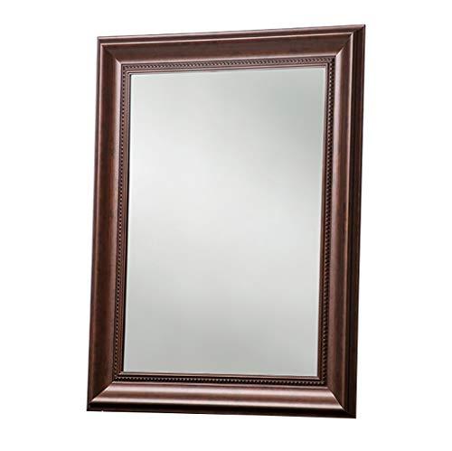 Specchio da trucco del bagno di stile europeo, specchio di condimento lavabile impermeabile del bagno, specchio di bellezza fissato al muro