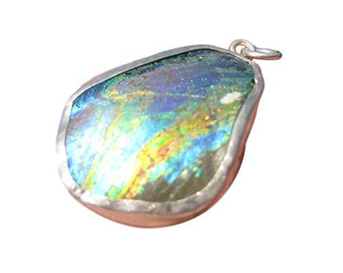 925 Silber Altes Römisches Glas Anhänger Afghanistan Schmuckkunst EB 571 925 Silver Old Roman Glass Pendant Afghanistan Jewelry Art EB 571 -