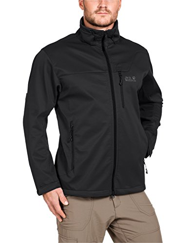 Jack Wolfskin Herren Softshelljacke Assembly Jacket Men, Black, L, 1300283-6001004
