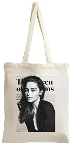 Emilia Clarke Game Of Thrones Breakfast At Tiffany's Tote Bag (At Ring Breakfast Tiffanys)