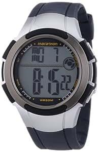 Timex - T5K769 - Marathon - Montre Mixte - Quartz Digital - Cadran LCD - Bracelet Résine Noir