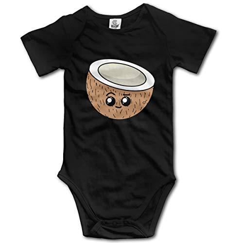 U are Friends Nette Kokosnuss Neugeborenen Mädchen Jungen Kinder Baby Strampler Kurzarm Kleinkind Overall(18 Mt,Schwarz) Sleeper Pyjamas Pjs