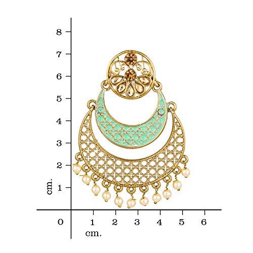 The Luxor Stylish Fancy Partywear Meenakari Jhumkhi Chandbali Earring for Women and Girls