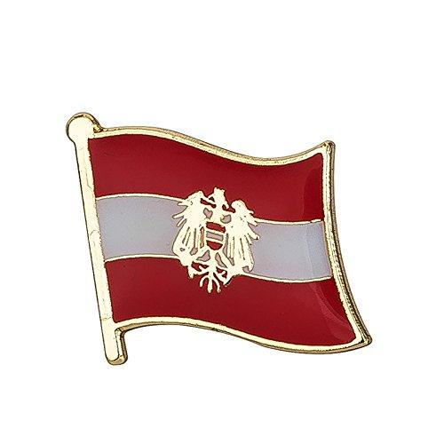 Österreich Österreichisch Kamm Flagge Metall Button Badge Pin Pins Anstecker