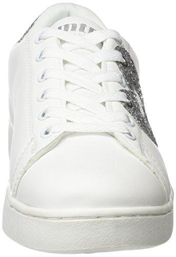 MTNG Damen Garza Sneakers Mehrfarbig (Action Pu Blancoglitter Plata)