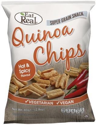 Eat Real | Quinoa Chips Hot and Spicy | 10 x 80g
