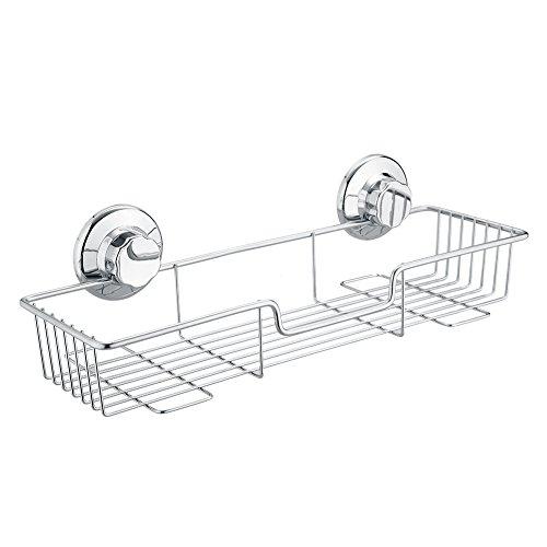 SANN Edelstahlregal mit Saugnapf Küchenspeicher Organisator Badezimmer  Duschen Aufbewahrungskorb
