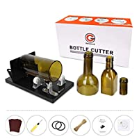 Bottle Cutter, Genround [2019 Upgrade 2.1] Glass Bottle Cutter Tool, Round/Square/Oval Glass Bottle Scoring Machine from Neck to Body, Glass Cutter Wine Bottle Cutter for Creative Lamp/Candle/Planter