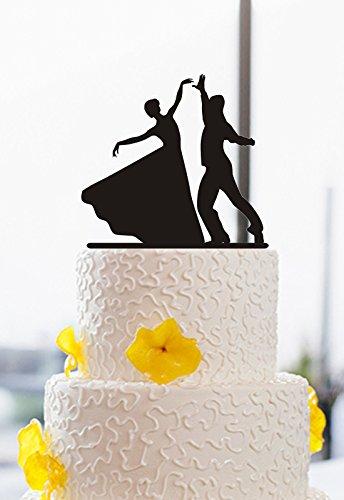 Romantische Braut und Bräutigam Dancing Silhouette Kuchen Topper Für Hochzeit Party Bridal Dusche