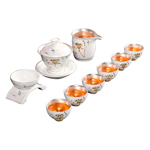 Keramik-Set Tee-Set Home einfache Tee-Set Schüssel Teekanne Tasse Silber Kung Fu Tee-Set Kaffeetasse Set Tee- & Kaffeekannen