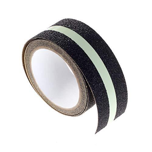 [12m x 5cm] Rutschfestes Leuchtband Extra Stark Selbstklebend, Glow in Dark, Verbessert Grip, Anti-Rutsch-Leuchtklebeband Sicherheitsband für Innen- und Außenbereich, 2x3m, TKD5032-4x