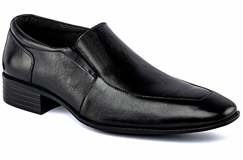 DE SCALZO Black Leather Slipon Formal Shoes