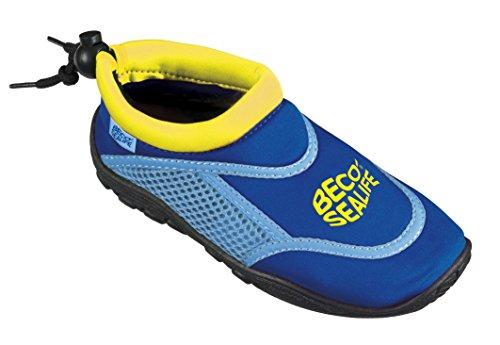 Kleinkinder Kinder Schuhe (Beco Badeschuhe Sealife Surf, Blau, 24/25)