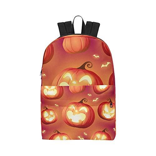 Ghost Pumpkins On Halloween Classic Cute Wasserdichte Laptop Daypack Taschen School College Kausal Rucksäcke Rucksäcke Bookbag für Kinder, Frauen und Männer Reisen mit Reißverschluss und Innentasche
