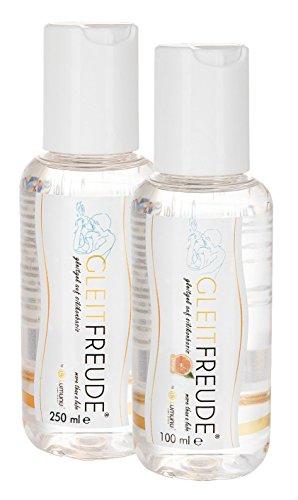 Deluxe mega Sortiment Lumunu Gleitgel Gleitfreude Silikonbasis (250 ml) und Gleitfreude Silikon Orange (100 ml)