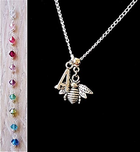 20c3b2346ffb Handmade Bumble Bee Jewellery for Women Silver Chain Personalised Necklace  with New Genuine Swarovski Crystal