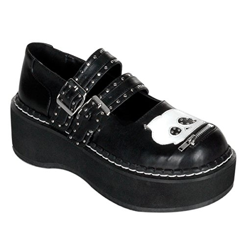 Demonia Emily-222 - gothique emo lolita mary janes chaussures femmes 36-43