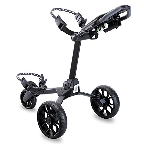 Stewart Golf Unisex R1-S Push Trolley, Black/Black Wheels