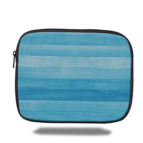 Laptop Sleeve Case,Light Blue,Wooden Planks Painted Texture Image Oak Tree Surface Maple Pine Board Stripes Decorative,Light Blue,Tablet Bag for Ipad air 2/3/4/mini 9.7 inch -