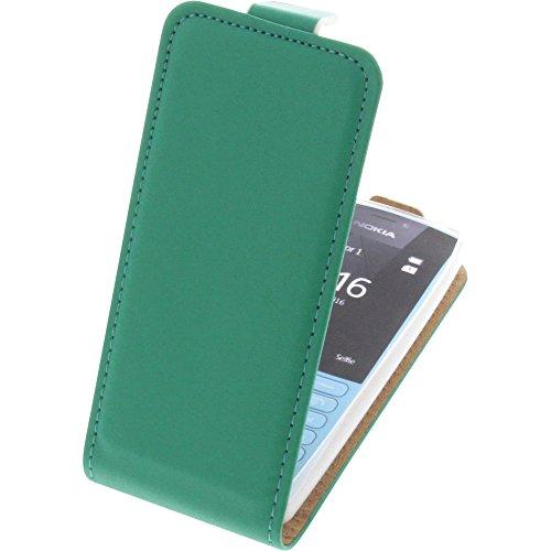 Tasche für Nokia 216 Smartphone Flipstyle Schutz Hülle grün