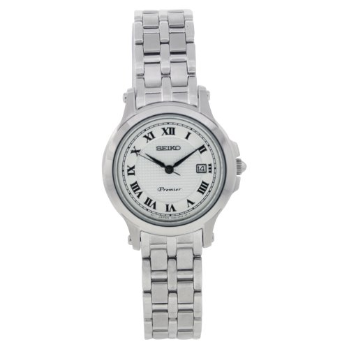 Seiko Women's Quartz Watch with Silver Dial Analogue Display and Silver Stainless Steel Bracelet SXDE01P1