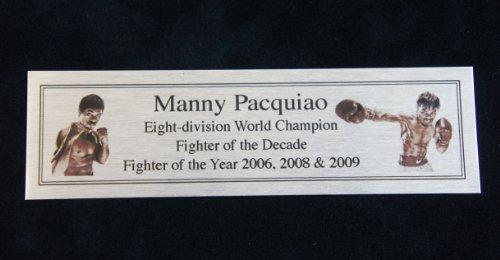 Manny Pacquiao Silver Targa Di Metallo Targhetta Per Autografato Guantoni Da Boxe o Boxer - Autografato Metallo