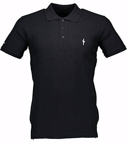 cesare-paciotti-herren-men-polo-shirt-100-italy-fashion-piqu-stone-washed-vintage-nero-s