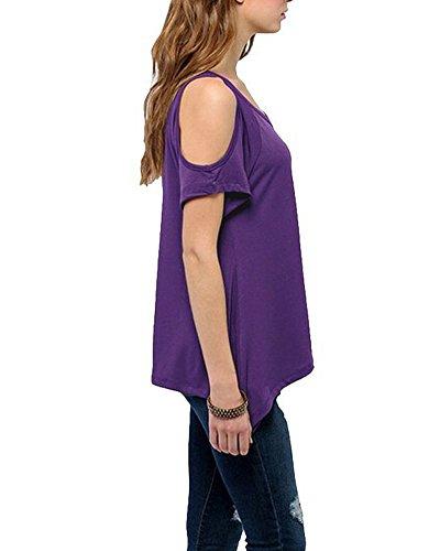 Camicetta Maglione Camicia Tops Shirts Apalla Nuda Confortevole Elegante Viola